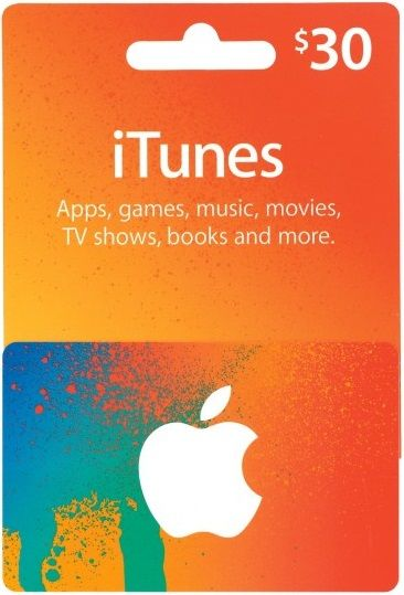 iTunes $30 Gift Card