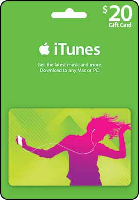iTunes $20 Gift Card